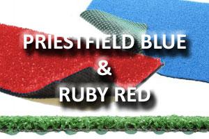 Priesfield Blue & Ruby Red