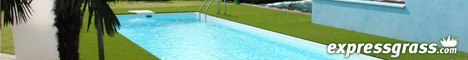 Swimming Pool surrounded by artificial grass